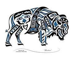 northwest tribal art buffalo - Goo - 100 Haida Tattoos You Have to See