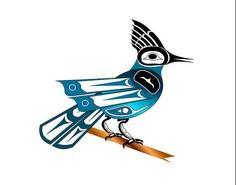 Stellar Jay ~ Fred Croydon, Haida  - 100 Haida Tattoos You Have to See