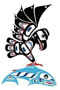Eagle & Salmon | Eric Parnell - 100 Haida Tattoos You Have to See