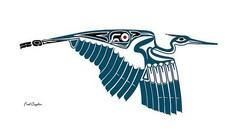 Haida blue heron - 100 Haida Tattoos You Have to See