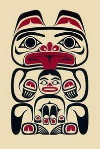 Between Bear Paws I - April White - 100 Haida Tattoos You Have to See