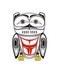 Haida Owl - 100 Haida Tattoos You Have to See