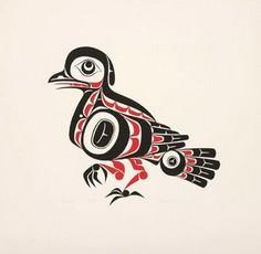 Phil Janze Silkscreen Grouse - 100 Haida Tattoos You Have to See