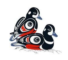 Harlequin Ducks-Prints - Glen Rabe - 100 Haida Tattoos You Have to See