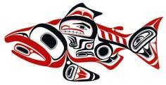 Haida art - Salmon - Bill Reid - 100 Haida Tattoos You Have to See
