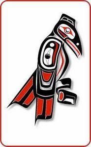 raven totem | Flickr - Photo Shari - 100 Haida Tattoos You Have to See