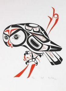 Haida art - Owl - Glen Rabena - 100 Haida Tattoos You Have to See