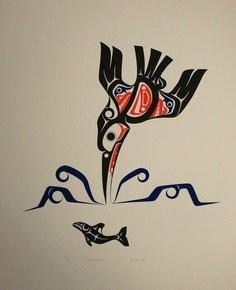 Kingfisher - 100 Haida Tattoos You Have to See