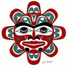 Coast Salish Art: Sun by Joe Wilso - 100 Haida Tattoos You Have to See