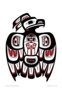 Haida Thunderbird by Clarence Mill - 100 Haida Tattoos You Have to See