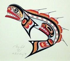 Hunt_Tony_Eel - 100 Haida Tattoos You Have to See
