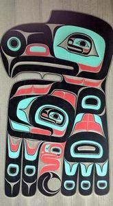 Tlingit Eagle carving - 100 Haida Tattoos You Have to See