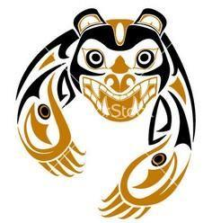 Tribal bear vector - 100 Haida Tattoos You Have to See