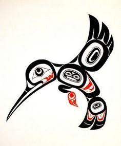 hummingbird tlingit - 100 Haida Tattoos You Have to See