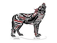 New Haida / Tlingit Wolf - Native  - 100 Haida Tattoos You Have to See