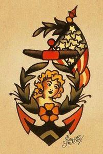Grandpa was in the Navy, Grandma w - 100 Anchor Tattoos