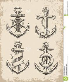 compass and anchor tattoo - Google - 100 Anchor Tattoos