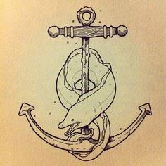 by Jason Levesque - 100 Anchor Tattoos