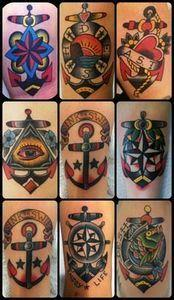 old school ink traditional tattoo  - 100 Anchor Tattoos