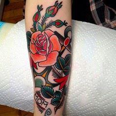 Anchor with roses - 100 Anchor Tattoos