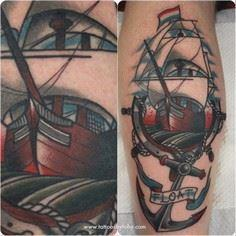 tattoosbytoby:  Thanks for getting - 100 Anchor Tattoos