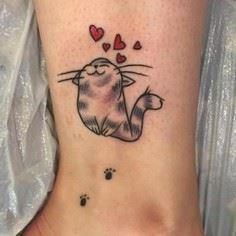 Lovely Cat Tattoo Idea - Over 100 Cat Tattoos, Designs and Tattoo Ideas