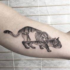 X-ray cat tattoo by Ash Timlin - Over 100 Cat Tattoos, Designs and Tattoo Ideas
