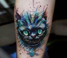Cheshire Cat tattoo by Andrey Step - Over 100 Cat Tattoos, Designs and Tattoo Ideas