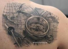 It's not about the places - 100 Creative Compass Tattoo Designs and Ideas
