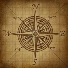 Compass Rose With Old Vintage Grun - 100 Creative Compass Tattoo Designs and Ideas