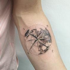 Compass - 100 Creative Compass Tattoo Designs and Ideas