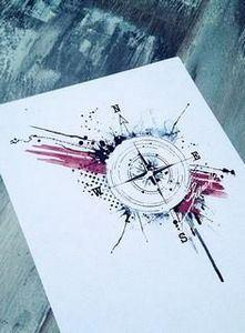 tattoo compass abstract - 100 Creative Compass Tattoo Designs and Ideas