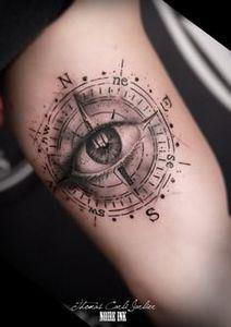 Realistic Compass Tattoo - 100 Creative Compass Tattoo Designs and Ideas