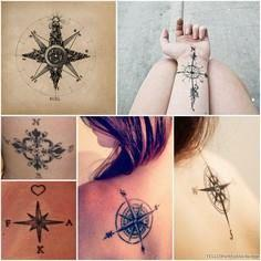 simple yet it says everything  - 100 Creative Compass Tattoo Designs and Ideas