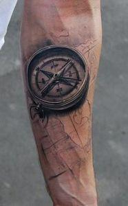 Compass and map tattoo This is mor - 100 Creative Compass Tattoo Designs and Ideas