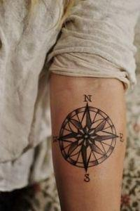 compass tattoo! - 100 Creative Compass Tattoo Designs and Ideas