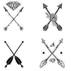 Two Arrows Crossed Tattoos - 100 Creative Compass Tattoo Designs and Ideas
