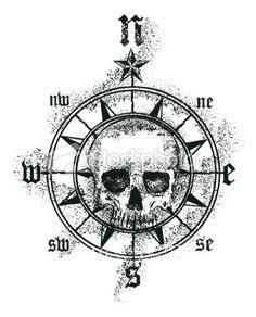 Wonder if I could make my skull - 100 Creative Compass Tattoo Designs and Ideas