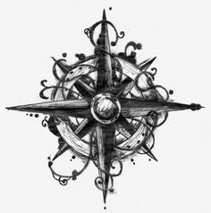 Compass tattoo design. - 100 Creative Compass Tattoo Designs and Ideas