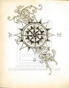 Compass Tattoo Sketch Deviant ART - 100 Creative Compass Tattoo Designs and Ideas