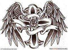Angel Wings Tattoo Gallery | 50 Cr - 100 Cross Tattoos - Inspirational Cross Designs and Ideas