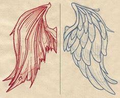 Stitch these wings on the back of angel on one shoulder, devil on the other. - 100 Cross Tattoos - Inspirational Cross Designs and Ideas