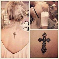 Placement design - 100 Cross Tattoos - Inspirational Cross Designs and Ideas