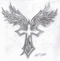 Angel Wings Cross Tattoo Design Sa - 100 Cross Tattoos - Inspirational Cross Designs and Ideas
