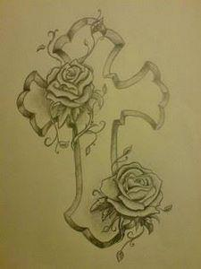 Nice cross and rose tattoo designs - 100 Cross Tattoos - Inspirational Cross Designs and Ideas