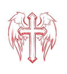 Cross, Wings, Tattoo, Design, Reli - 100 Cross Tattoos - Inspirational Cross Designs and Ideas
