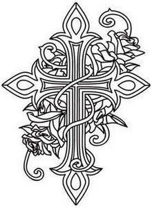 Cross and Roses | Urban Threads: U - 100 Cross Tattoos - Inspirational Cross Designs and Ideas