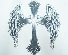 Cross Tattoo with angel wings Desi - 100 Cross Tattoos - Inspirational Cross Designs and Ideas
