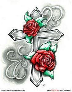An idea for the Cross tattoo that  - 100 Cross Tattoos - Inspirational Cross Designs and Ideas
