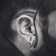 by MXW TATTOO - 35 Ear Tattoos